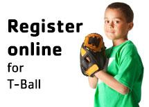 Register online for T-ball